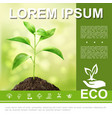 realistic ecological and natural template vector image