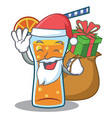 santa with gift cocktail character cartoon style vector image vector image