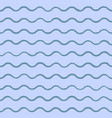 sea background with blue waves drawn by hand vector image vector image