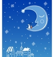 Seamless greeting Christmas card vector image vector image