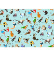 seamless pattern with cats dressed in costumes vector image vector image