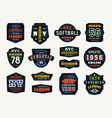 set of emblems and patches in sport style vector image vector image