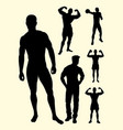 sexy man gesture silhouette vector image vector image