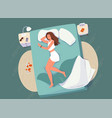 sleep control concept background young vector image