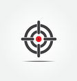 symbol crosshair vector image