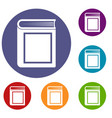 thick book icons set vector image vector image