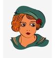 Vintage Girl vector image vector image