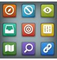 Flat icon set White Symbols Web 2 vector image