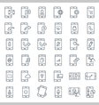 Mobile function outline icon set vector image