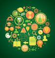 round concept with education science icons vector image