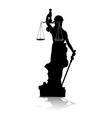 Themis Goddess of Justice vector image