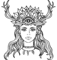Female shaman portriat vector image
