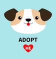 adopt me dog face head round icon cute cartoon vector image vector image