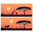 african landscape with wild animals vector image vector image
