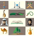 Arabic middle east flat icons vector image vector image