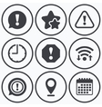 Attention icons Exclamation speech bubble vector image vector image