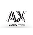 ax a x lines letter design with creative elegant vector image vector image