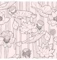 Blooming lotus seamless vector image vector image