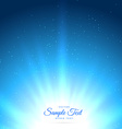 blue background with glowing sunburst vector image