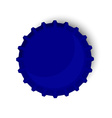 Blue bottle cap vector image vector image