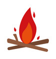 bonfire fire icon image vector image vector image