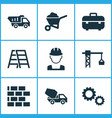 building icons set collection of lifting hook vector image vector image