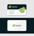 business card with green crate vector image vector image