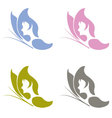 butterfly wiht ladyface vector image