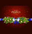 christmas partiotic border vector image