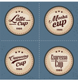 Coffee badge logo in vintage style vector image vector image
