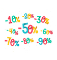 Colorful discount percentages fun childish folded