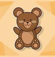 cute teddy baby animal cartoon image vector image vector image