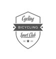cycling sport club logotype vector image vector image