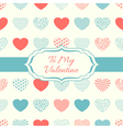 Decorative background with hearts vector image vector image