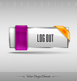 design element Business web button for website or vector image vector image