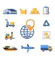 digital yellow blue warehouse vector image vector image