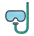 diving googles isolated icon vector image