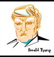 donald trump portrait vector image