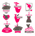 dress boutique or fashion atelier salon vector image vector image