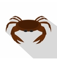 Edible brown crab icon flat style vector image vector image