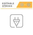 electric plug line icon vector image vector image