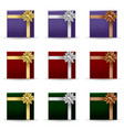 festive gift boxes set vector image