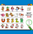 find wrong picture in a row educational game vector image vector image