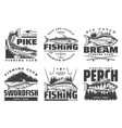 fisher club big fish catch fishing camp tours vector image vector image