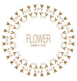 floral wreath of stylized lilies or tulips vector image vector image