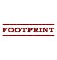 Footprint Watermark Stamp vector image