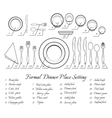 Formal table setting vector image vector image