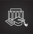 graduation thin line on black background vector image