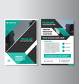 Green black annual report Leaflet Brochure set vector image vector image