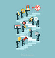 growth in business vector image